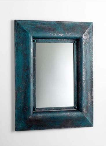 Blue Distressed Mirror Accessories Santa Barbara
