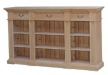 9 Section Open Bookcase Buffet Santa Barbara