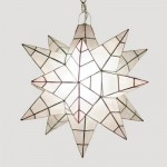 Capiz Shell Star Lamp Santa Barbara