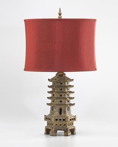 Pagoda Table Lamp Santa Barbara