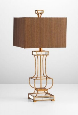 Gold Leaf Table Lamp Santa Barbara