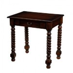 Single Drawer Side Table with Twisted Legs Santa Barbara