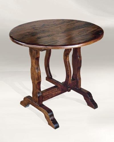 Flip Round Hardwood Table Santa Barbara