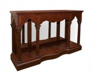 Mahogany English Console Santa Barbara
