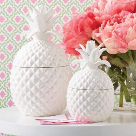 Large Ceramic Pineapple Jar Santa Barbara