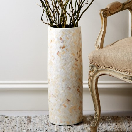Mother of Pearl Vase Santa Barbara