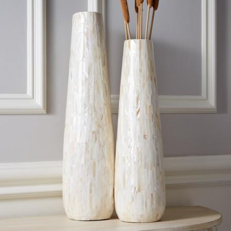 Mother of Pearl Tapered Vase Santa Barbara