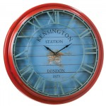 Distressed Wall Clock Santa Barbara