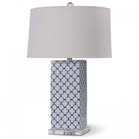 Ceramic Quatrefoil Lamp Santa Barbara