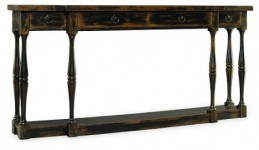 Four Drawer Ebony Console Table Santa Barbara