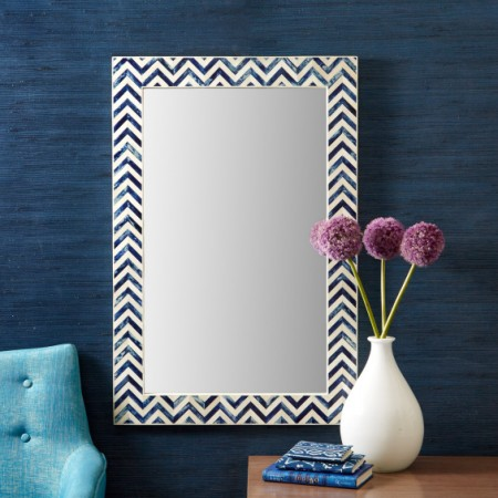 Bone Inlay Wall Mirror Accessories Santa Barbara
