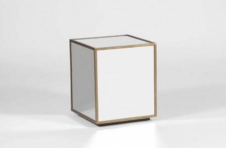 Mirrored Cube Table Santa Barbara