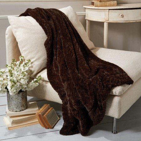 Chateau Faux Mink Throw Decorative Objects Santa Barbara
