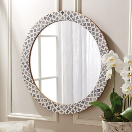 Slate Mosaic Mirror Santa Barbara