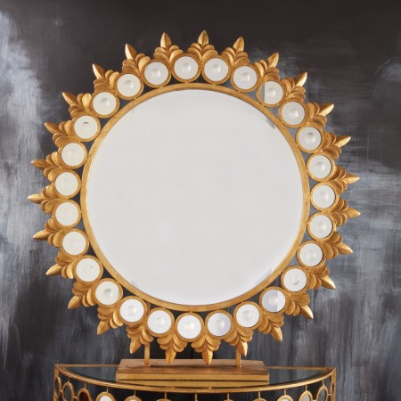 Pedestal Sun Mirror Santa Barbara