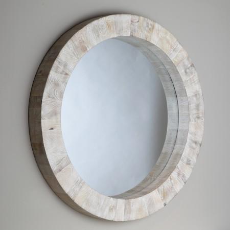 Driftwood Round Mirror Santa Barbara