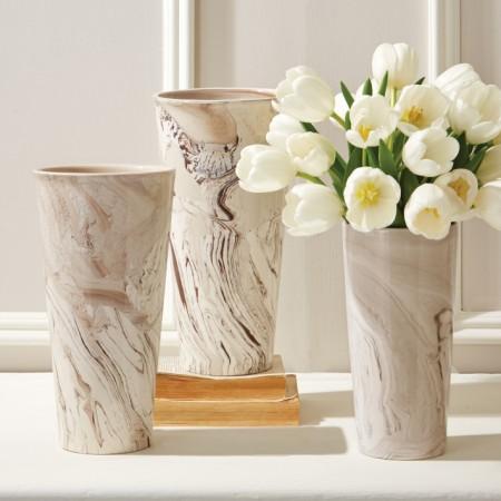 Porcelain Marbelized Vase Santa Barbara