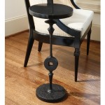 Iron Square Peg Side Table Santa Barbara