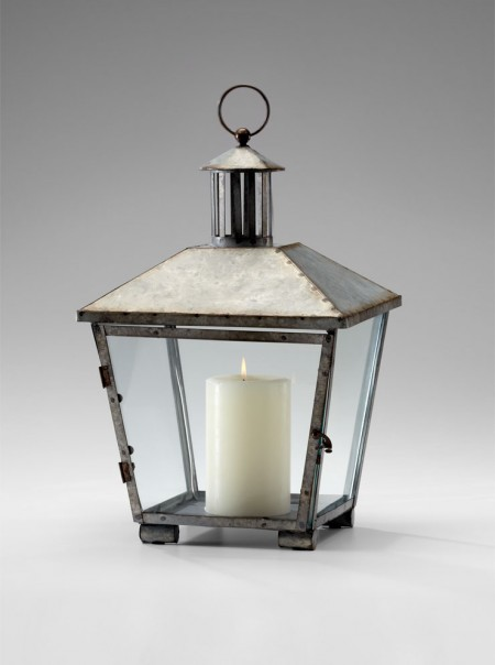 Iron Lantern Candleholder Santa Barbara