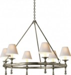 Antique Nickel Ring Chandelier Santa Barbara