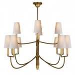 12 Light Antique Brass Chandelier Santa Barbara