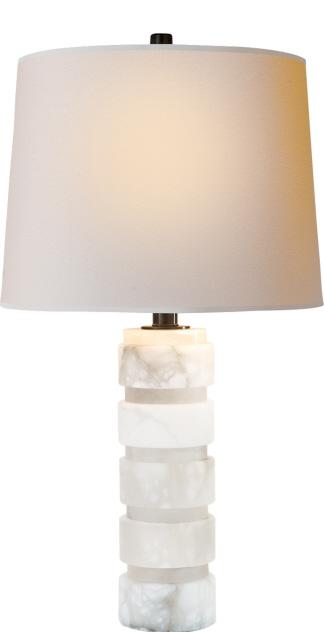 Stacked Alabaster Table Lamp Santa Barbara