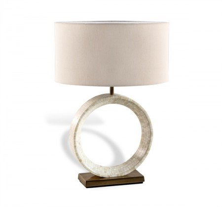 Bone Inlay Table Lamp Santa Barbara