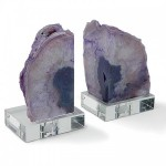 Geode Bookend Set Accessories Santa Barbara