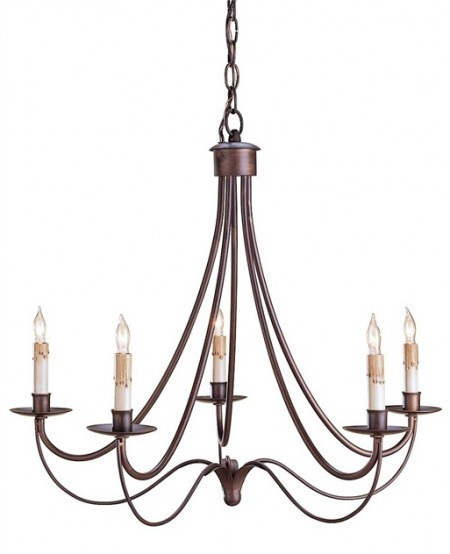 Classic Wrought Iron Chandelier Santa Barbara