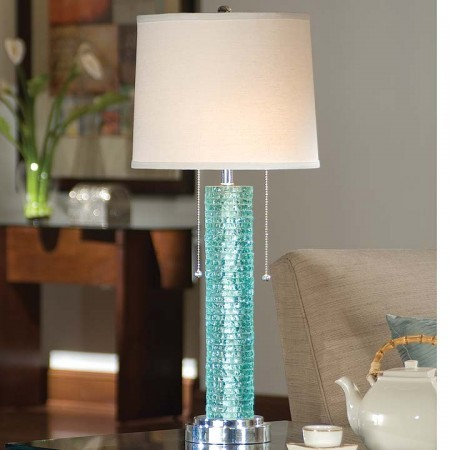 Glass Column Lamp Santa Barbara