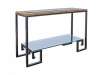 Stanza Greek Key Console Table Santa Barbara