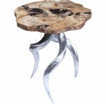 Petrified Wood Corkscrew Accent Table Santa Barbara