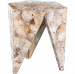 Petrified Wood A-Frame Accent Table Santa Barbara