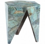 Malachite A-Frame Accent Table Santa Barbara