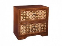 Wooden Circled Night Stand Santa Barbara