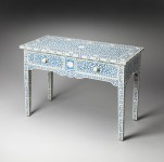 Blue Bone Inlay Console Table Santa Barbara
