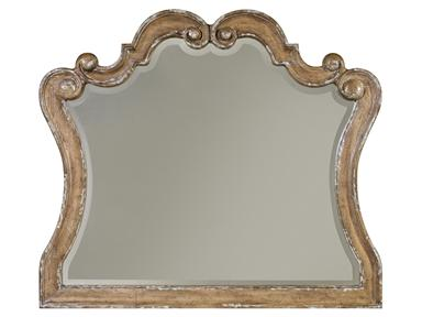 Gray Hardwood Mirror Santa Barbara