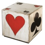 Queen of Hearts Accent Table Santa Barbara