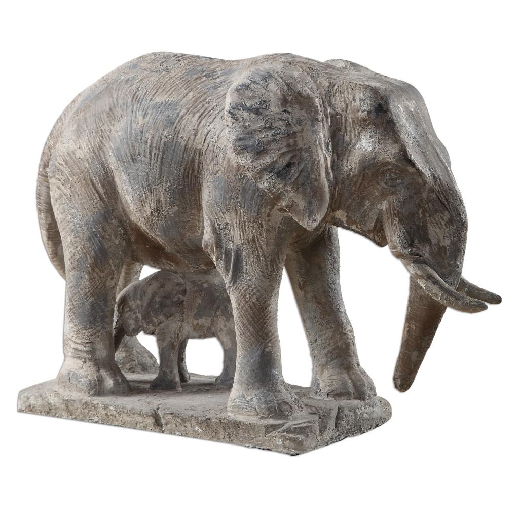 Elephant Family Sculpture Santa Barbara