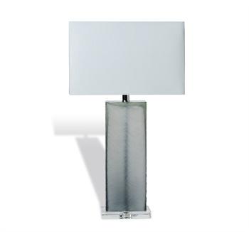 Sofia Grey Glass Table Lamp Santa Barbara