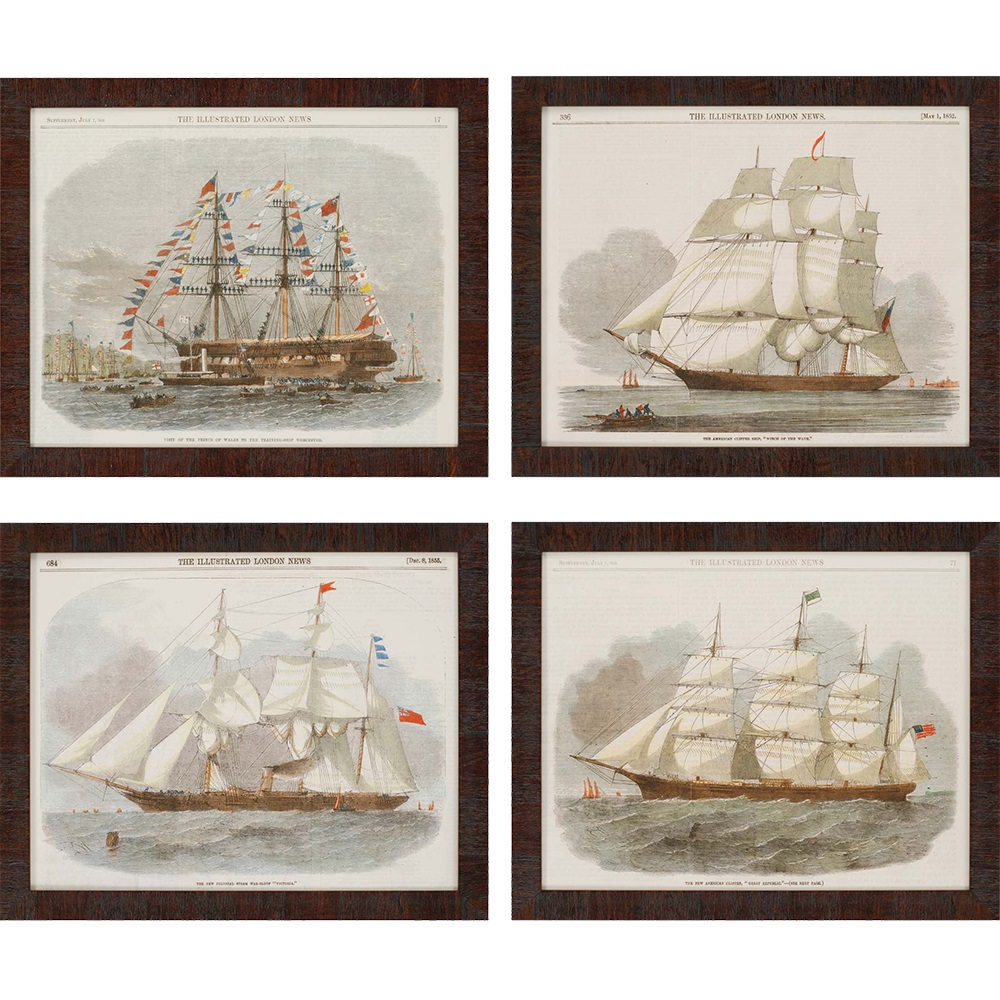Ships On Stormy Waters Painting Santa Barbara
