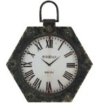 Bordeaux Metal Antique Clock Santa Barbara