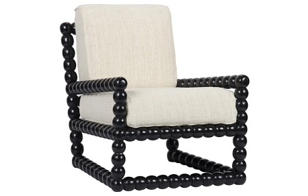 Duchess Black Lounge Chair Santa Barbara