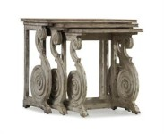 Brontes Weathered Nesting Table Santa Barbara