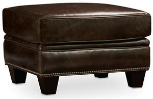 Wenge Leather Ottoman Santa Barbara