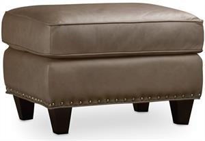 Slate Leather Ottoman Santa Barbara