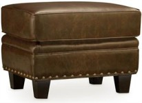 Coyote Leather Ottoman Santa Barbara