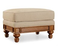 Honey Upholstered Ottoman Santa Barbara