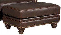 Seal Cocktail Leather Ottoman Santa Barbara