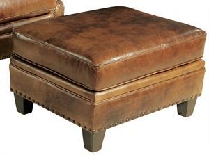 Fallow Leather Ottoman Santa Barbara